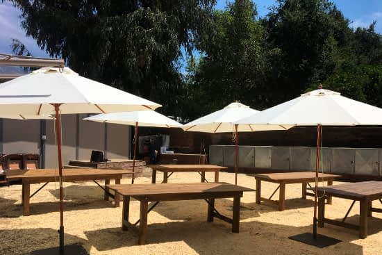 Table and chair rentals Pacific Palisades